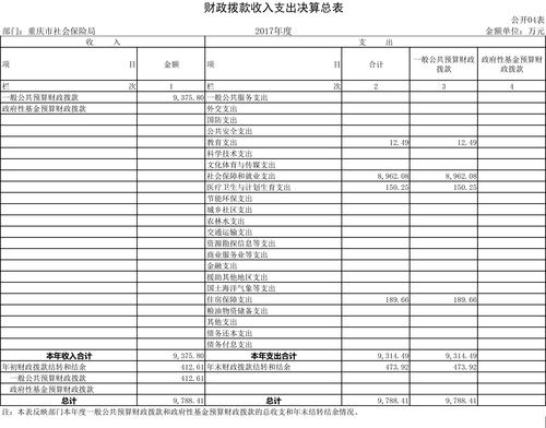 重庆市社会保险局2017年部门决算公开挂网-4