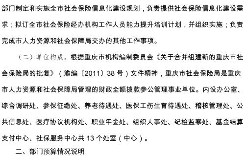 重庆市社会保险局2019年部门预算情况说明-3