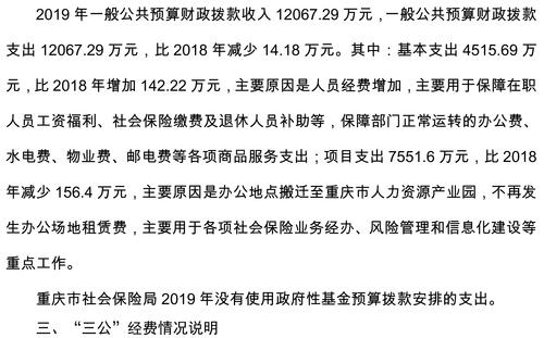 重庆市社会保险局2019年部门预算情况说明-4